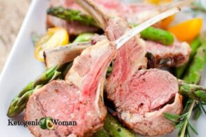 Plated rack of lamb