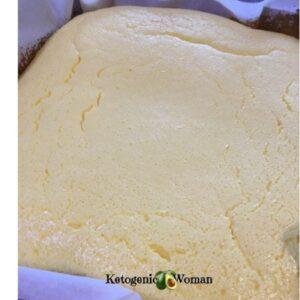 Keto Egg Fast Lemon Bars in the pan