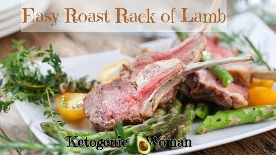Low Carb Roasted Rack of Lamb Dinner