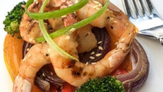 Keto Sheet Pan Dinner - Roasted Asian Shrimp and Veggies