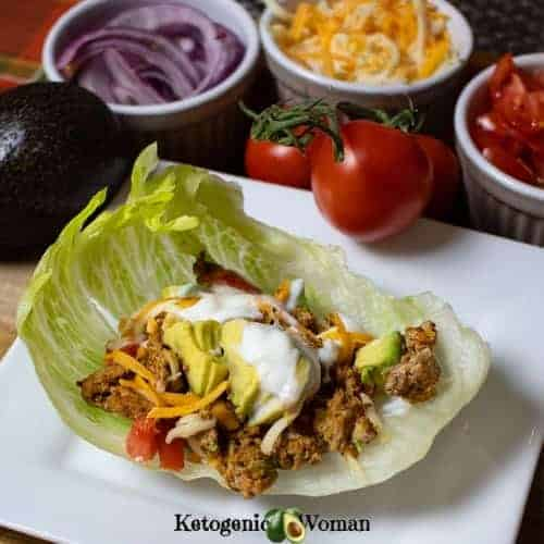 Low Carb Lettuce wrapped tacos