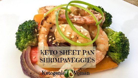 Keto Low Carb Sheet Pan Shrimp and Vegetables