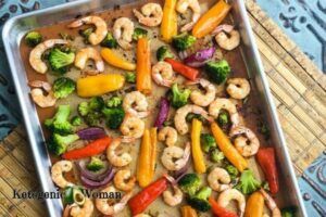 Shrimp and veggies on Sheet Pan