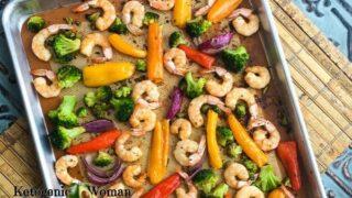 Keto Sheet Pan Dinner - Roasted Asian Shrimp and Veggies