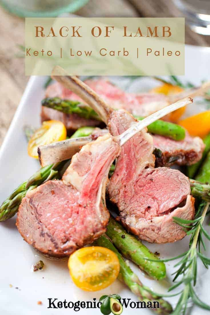 Simple juicy and keto! Rack of Lamb is not just for Easter! Low Carb Sheet pan dinner.
