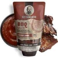 Guy Gone Keto BBQ Sauce - Sugar Free Ketogenic Condiments Created for Keto, Primal, LCHF, Paleo Diets (6 Pack, BBQ)