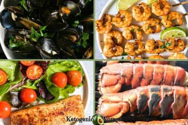 Keto Seafood collage