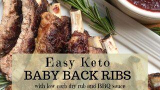 Juicy Keto Baby Back Ribs (Crockpot or Instant Pot Prep)