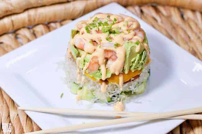 Spicy Keto Shrimp Stacks