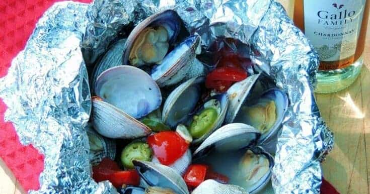 Spicy Grilled Clams in Foil