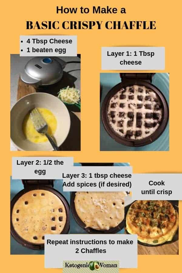 basic keto chaffles instructions