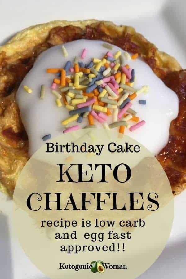 keto egg fast sweet chaffle