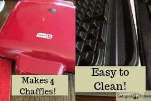 Make 4 chaffles Dash waffle maker