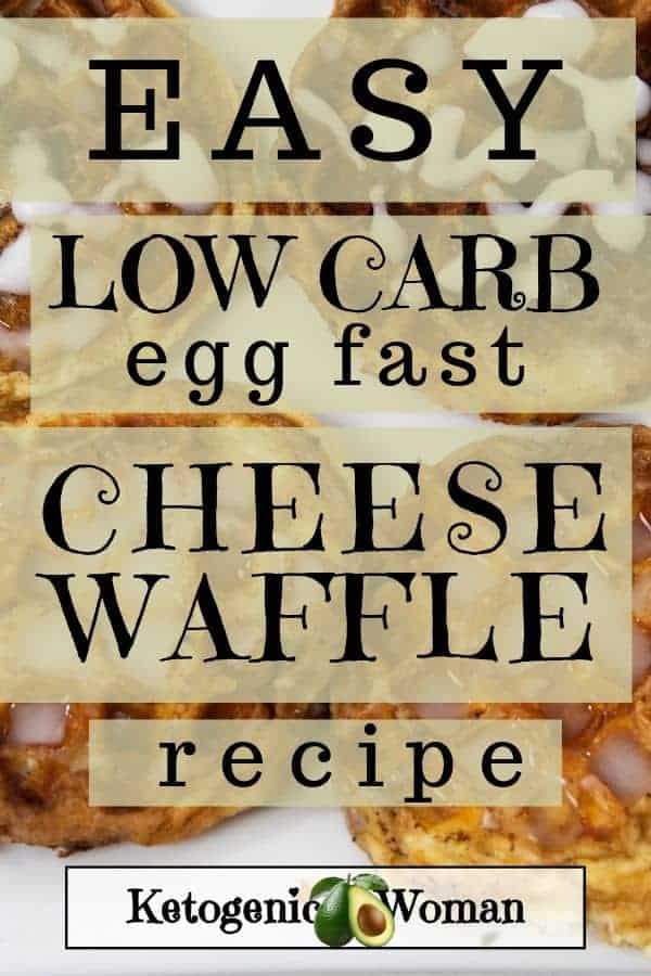 Easy low carb egg fast cheese waffle recipe