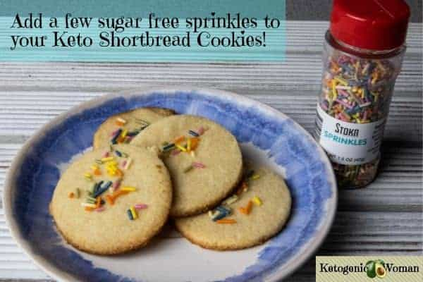 Keto cookies with sugar free sprinkles