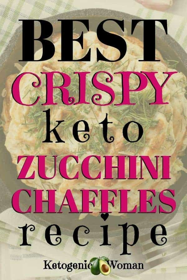 best crispy keto zucchini chaffles recipe