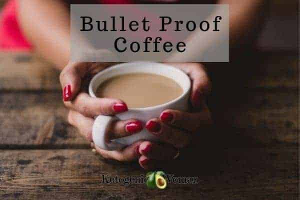 Bullet proof coffee with MCT oil for keto
