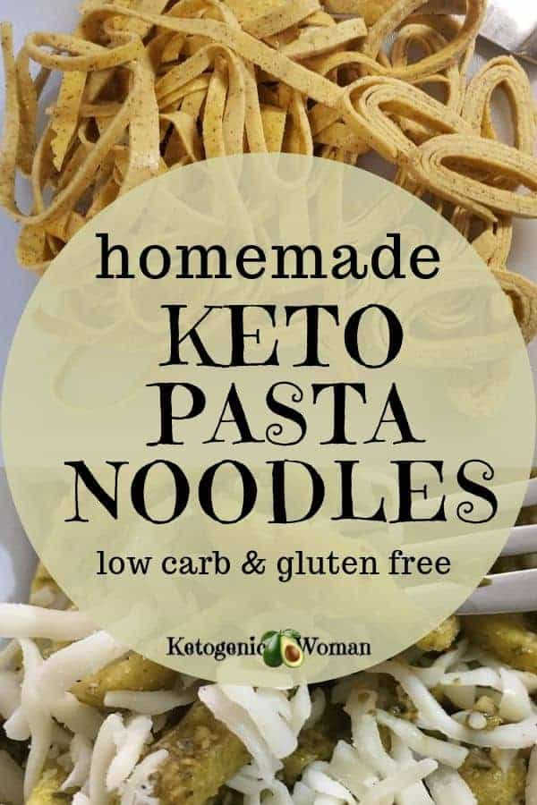 Easy homemade keto pasta noodles. Low carb and gluten free!