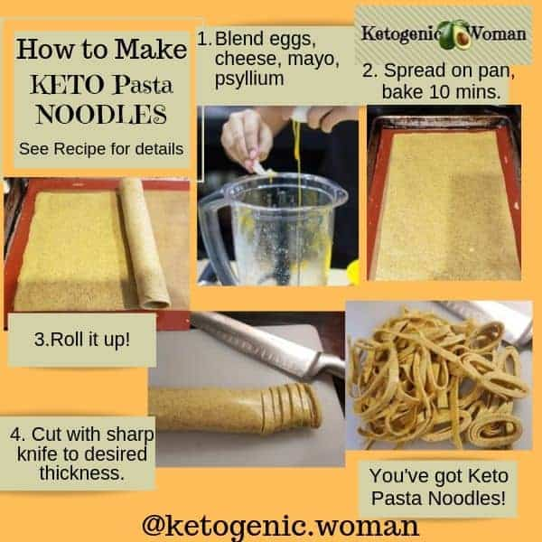 How to make Keto Pasta Noodles