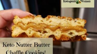 Keto Nutter Butter Chaffle Cookies Almond Butter Copy Cat Recipe