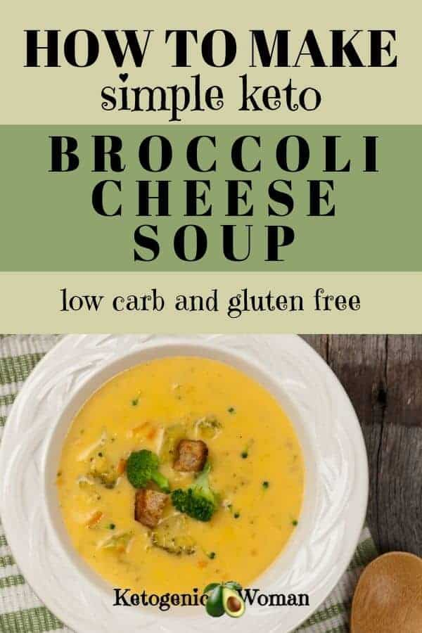 Easy and simple keto, low carb broccoli soup. A Panera copycat recipe.