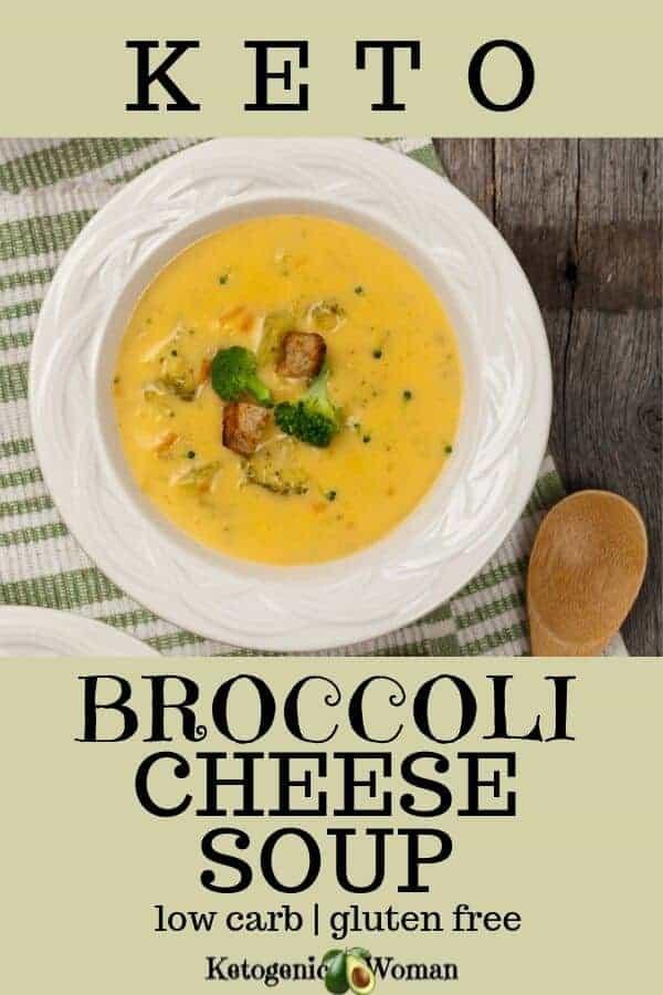 Easy and simple keto, low carb broccoli soup. A Panera copycat recipe.