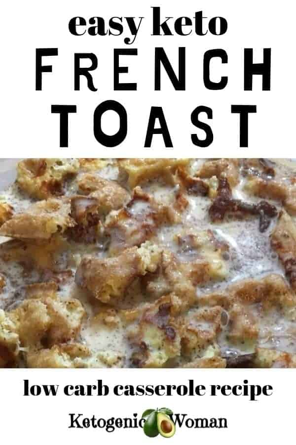 Low carb Keto overnight french toast chaffle casserole recipe