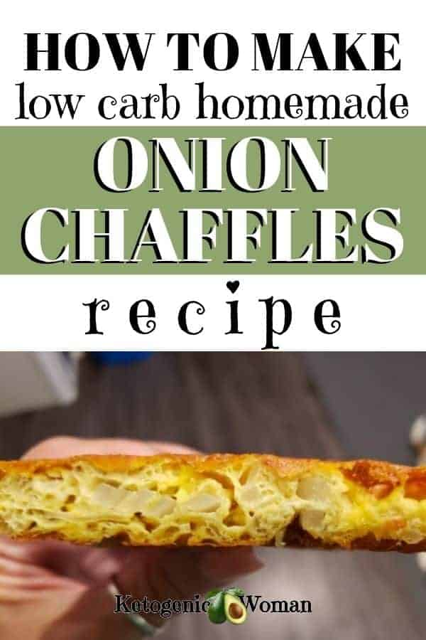 How to make low carb homemade onion chaffles recipes