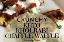Crunchy Kholrabi Breakfast Keto Chaffle Waffle recipe
