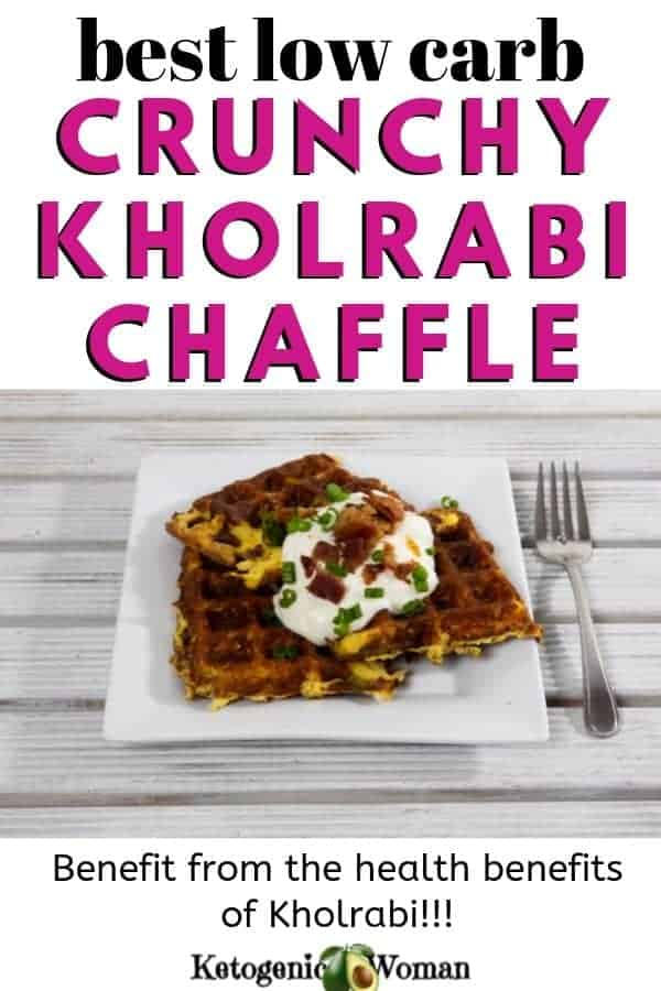 Crunchy Keto Kohrabi Chaffle Waffle (1)