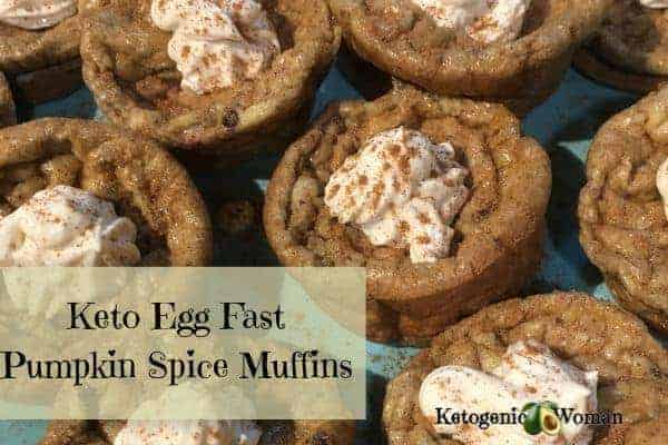 Egg Fast Pumpkin Spice Muffins