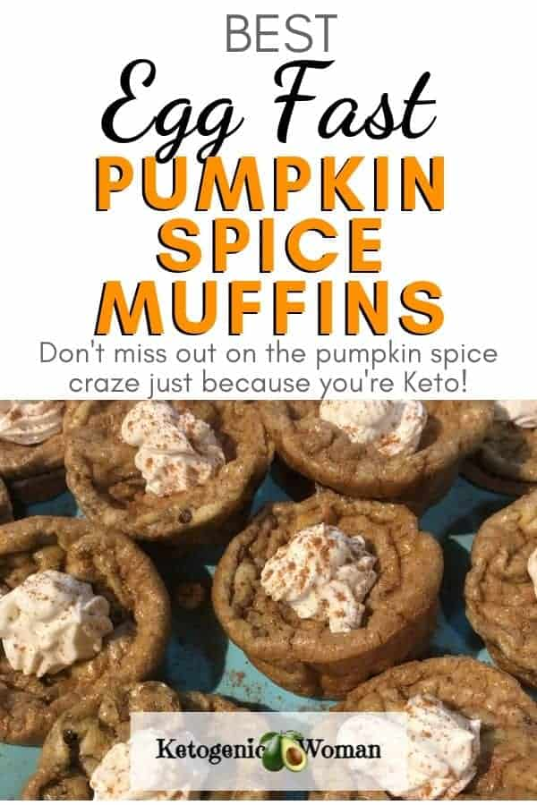 Easy Keto pumpkin spice muffins. 1 carb each and egg fast approved!