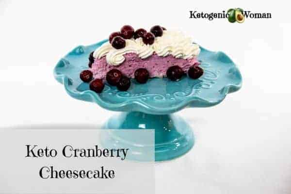 keto cranberry mousse cheesecake