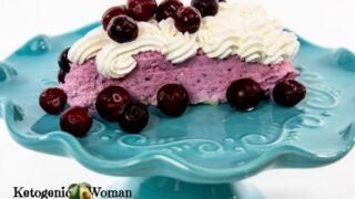 Keto Cranberry Mousse Cheesecake Dessert