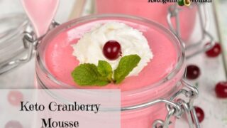 Keto Cranberry Mousse