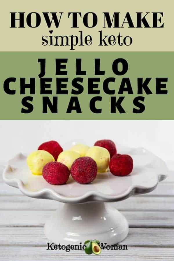 Keto Jello Cheesecake Snacks