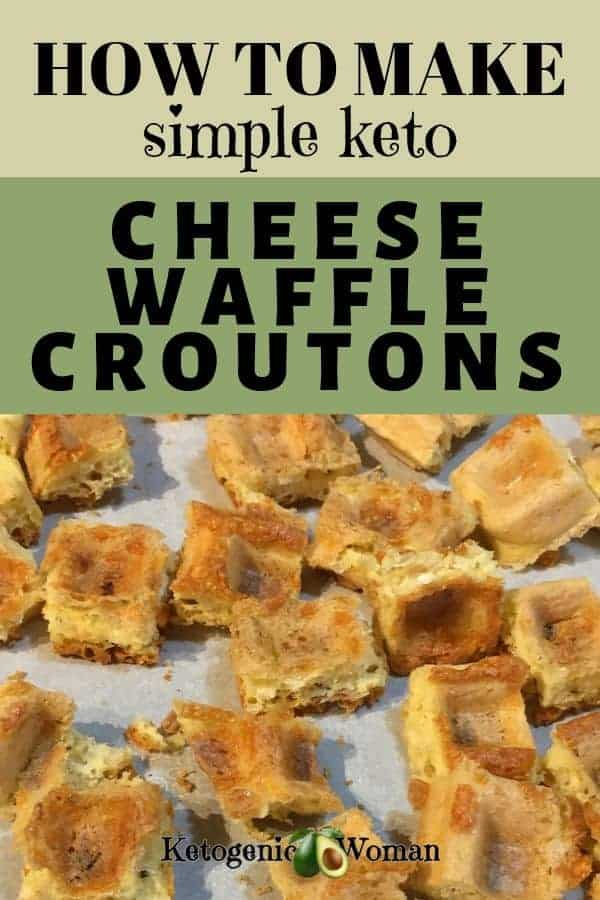 A close up of croutons