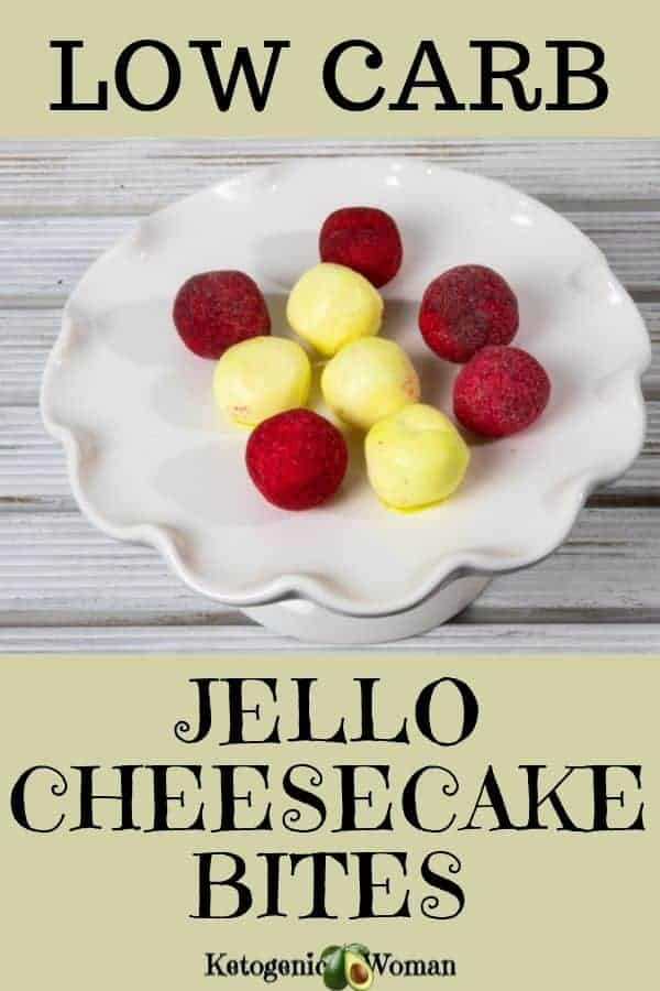 Low Carb Jello Cheesecake Bites