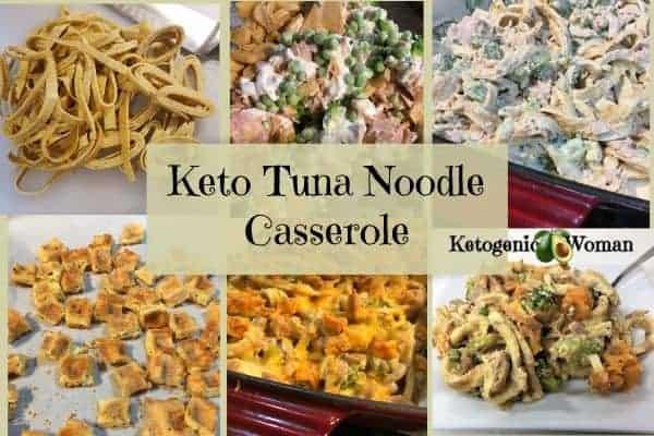 Making Keto Tuna Noodle Casserole Collage