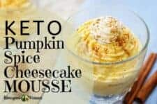 Keto pumpkin spice cheesecake mousse. Egg fast approved.