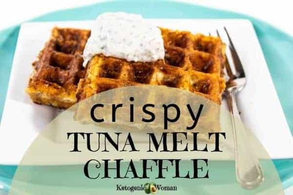 Crispy tuna melt chaffle