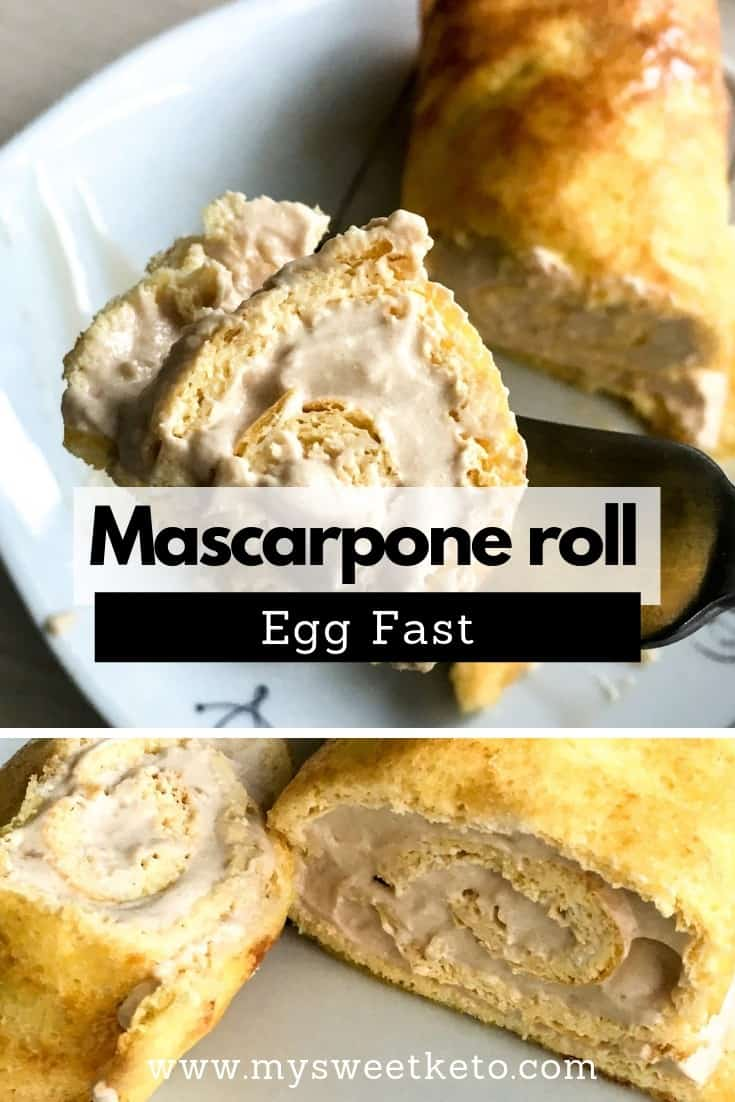 Egg Fast Mascarpone Roll
