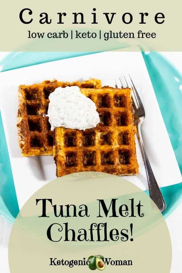 Keto Carnivore Tuna Melt Chaffles