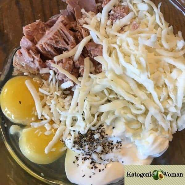 Keto Tuna Melt Chaffle Ingredients