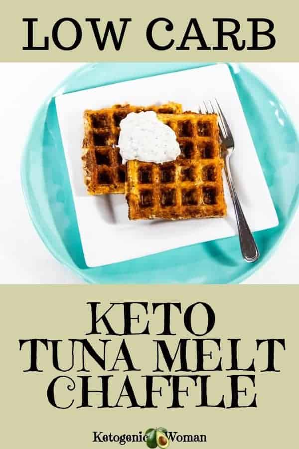 Low carb keto tuna melt chaffle