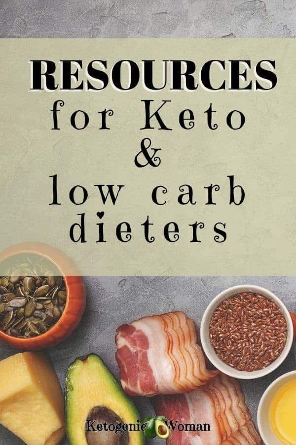 resources for keto and low carb dieters