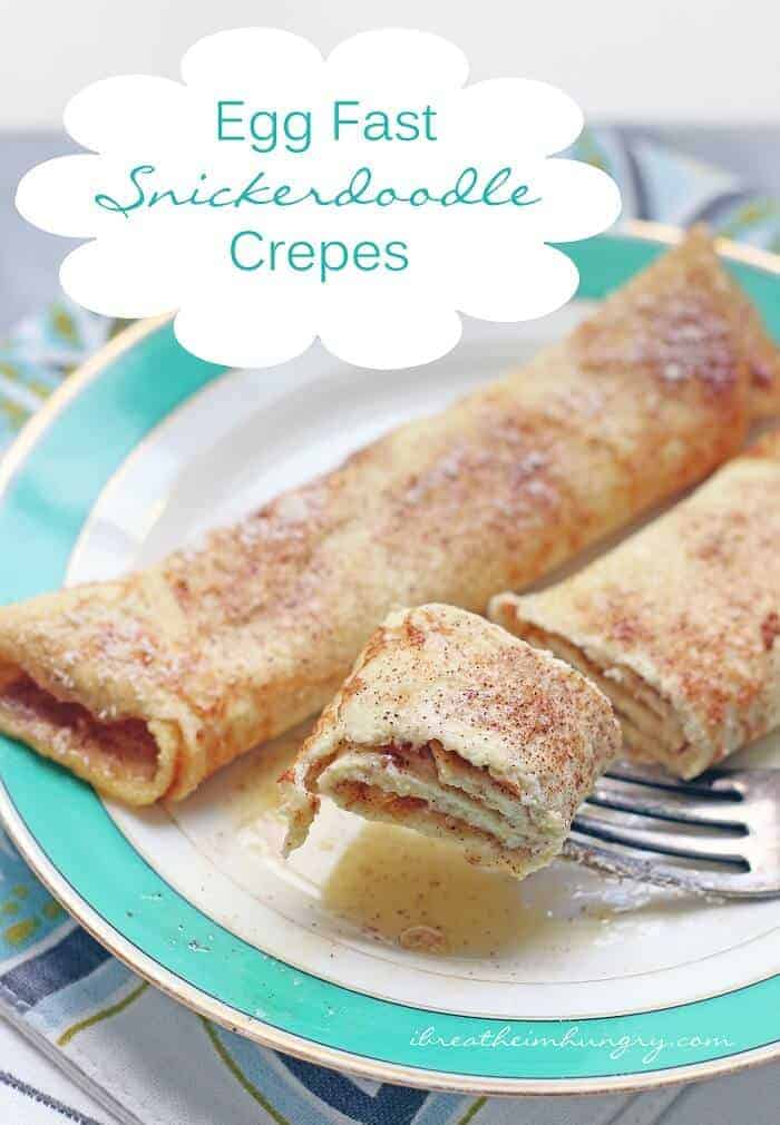 Keto Egg Fast Snickerdoodle Crepes (Low Carb)