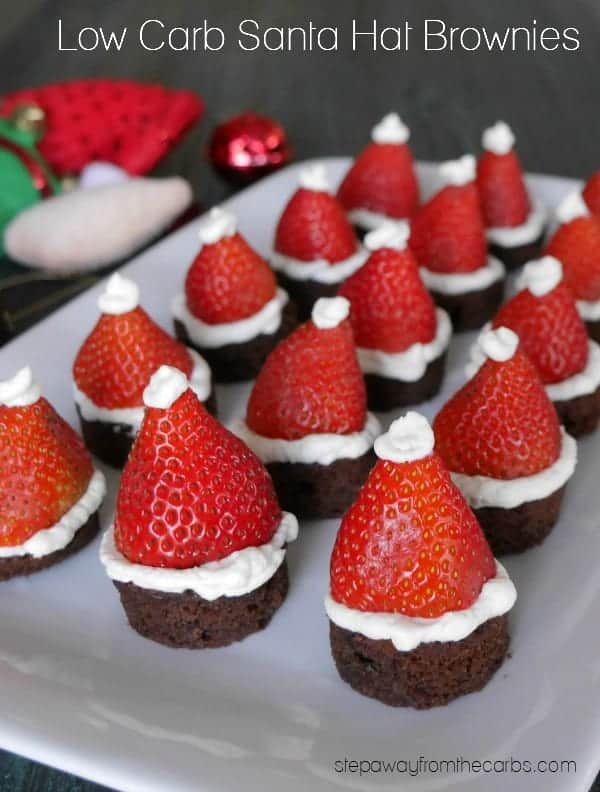 Low Carb Santa Hat Brownies