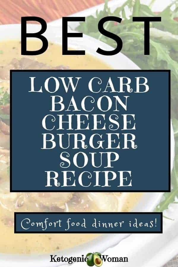 Best low carb cheeseburger soup recipe - comfort food dinner ideas (1)