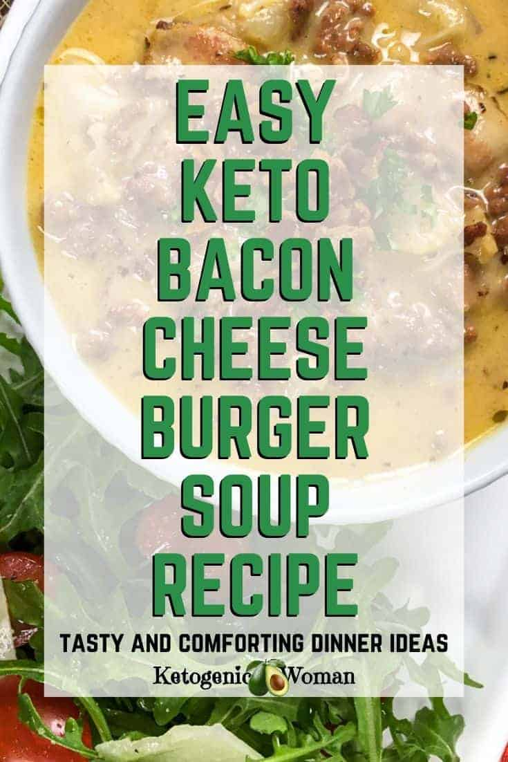 Easy keto cheese burger soup recipe - comforting dinner ideas (1)